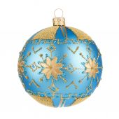 Beautiful blue christmas ball — Stock Photo
