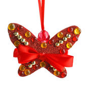 Christmas decoration butterfly — Zdjęcie stockowe