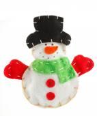 Christmas decoration snowman — Stock Photo