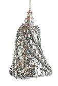 Christmas decoration silver bell — ストック写真