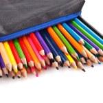 Color pencils in pencil case — Stock Photo #59642375