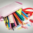 Pencil box full of supplies — Stock Photo #59661973