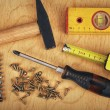 Set of manual working tools — Stock Photo #76261385