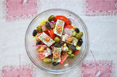 Greek salad from above — Photo