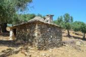 老希腊石房子 — 图库照片