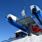 Ski lift last stop — Stock Photo #75722265