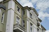 Fragment of old renovated building in centre of Plovdiv town. — Photo
