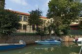 πολύχρωμο νησί burano, κοντά σε βενετία, ιταλία — Φωτογραφία Αρχείου