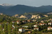 Village in the wine making region of Melnik — Stock Photo