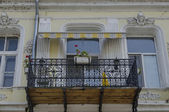 Interesting balcony at old building in Ruse town — Stock Photo