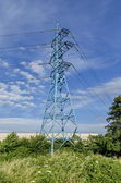 Electric power transmission line — Stock Photo