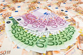 Paper money euro. background of banknotes — Stock Photo