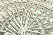 Paper money dolar. background of banknotes — Stock Photo