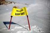 Area closed keep out sign — Stock Photo