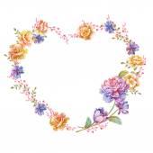 Flowers arranged in a shape of heart — Stok fotoğraf