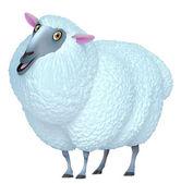 3d cute sheep — Stock Photo