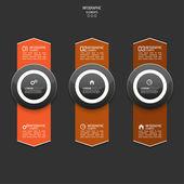 다 색된 종이 스티커 화살표 숫자와 기호. — Stockvector