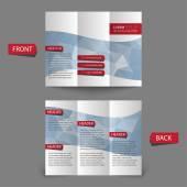 Tri krotnie broszura projektu. — Wektor stockowy