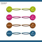 Jämförande diagram med mallar för presentation — Stockvektor