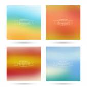 Set of vector colorful abstract backgrounds blurred. — Stock Vector