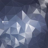 Abstract vector background with triangles and polygon mesh — Stock Vector