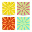 Set of sunburst backgrounds. — Stock Vector #60740669