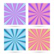 Set of sunburst backgrounds. — Stock Vector #60740679