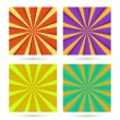 Set of sunburst backgrounds. — Stock Vector #60740681