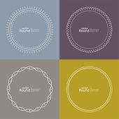 Set of vector round banners — Vector de stock