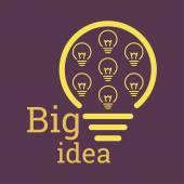 Bulb light idea. — Stock Vector