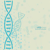 Abstract background with DNA molecule structure — Stock Vector