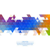 Creative abstract triangle pattern. — Stock Vector