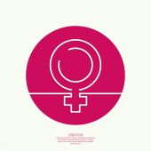 Female symbol of the tape. — Stock Vector