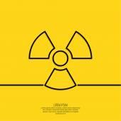 Vector radiation symbol. — Stock Vector