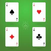 Four aces — Stock Vector