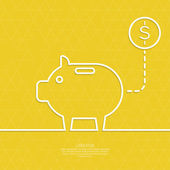 Icon Pig piggy bank — Stock Vector