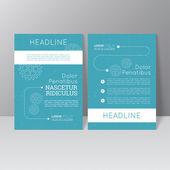 Vector brochure template design — Stock Vector
