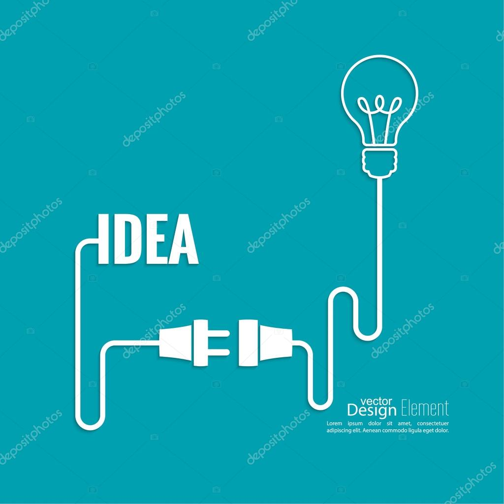 bulb light idea concept of big ideas inspiration innovation invention effective thinking starting the thinking process u vector de sumkinn