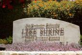 Fellowship Lake Shrine — Stock Photo