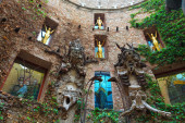Fragment of Main courtyard in Dali's Theatre — Stock Photo