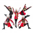Dancer team wearing a folk Caucasian highlander costumes — Stock Photo #68498729