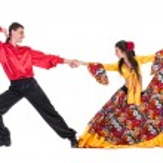 Gypsy flamenco dancer couple — Stock Photo #68499047