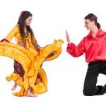 Gypsy flamenco dancer couple — Stock Photo #68499151
