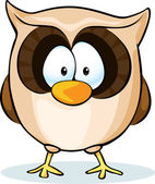 Cute owl vector - isolated on white background — Stock Vector
