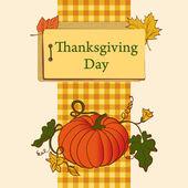 Thanksgiving Day. Vector pumpkin — Stock Vector