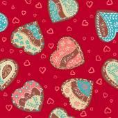 Διάνυσμα μοτίβο καρδιές για ημέρα του Αγίου Βαλεντίνου του Αγίου — Διανυσματικό Αρχείο