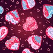 Vector Pattern hearts for St. Valentines Day — Stock Vector