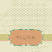 Vector Vintage Scrapbook Paper with Tag — Stockvector