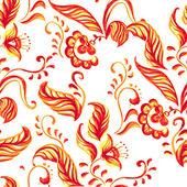 Vector Blue Seamless floral ornament pattern — Vecteur