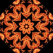 Vector Sample Lace Asian Tile. Circle Background — Stock vektor